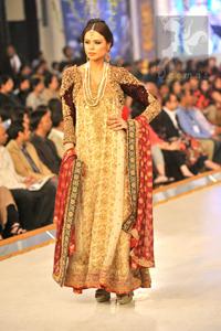 Ash White Designer Wear Bridal Frock with Churidar Pajama and Banarsi Dupatta
