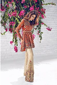 rust-party-wear-short-frock-with-beige-embroidered-pants-4