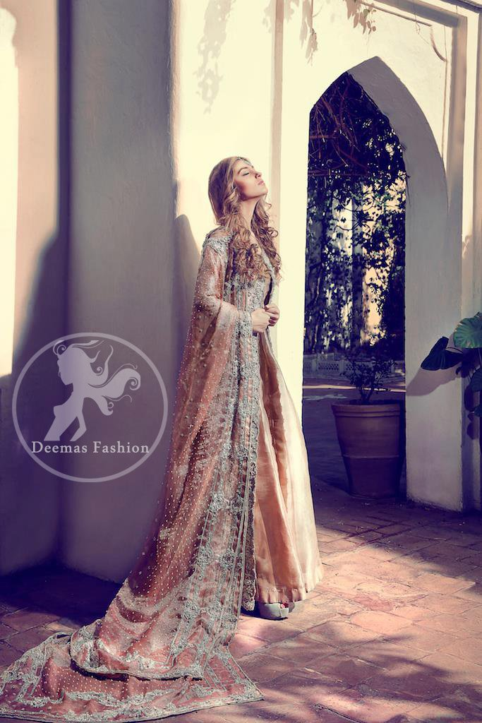 Light Peach Front Open - Bridal Gown 2017