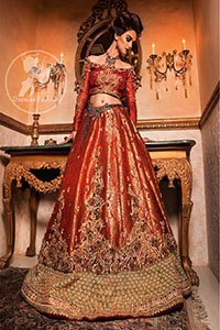 Orange-Red-Banarsi-Bridal-Lehenga-Choli (2)
