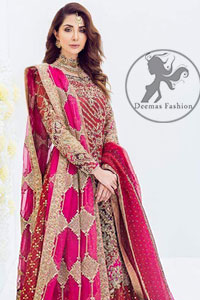 Mexican Red Shirt sandy Brown Lehengha Mexican Red Dupatta
