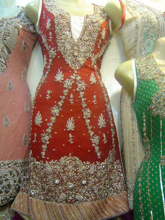 Latest Pakistani Bridal Wear – Red Traditional Dress