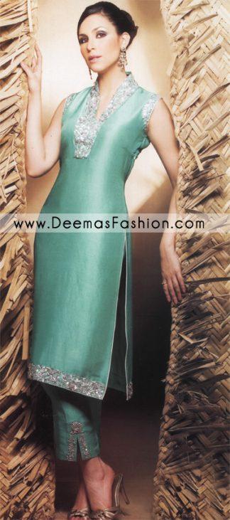 Designer Wear Dress - Terqious Green Bridal Wear