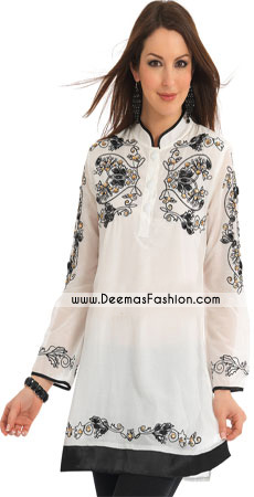 Elegant-White-embroidered-kurta