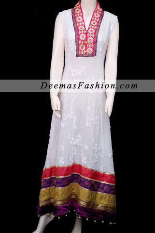 Elegant White Aline Casual Wear Dress
