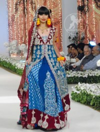 Ferozi-heavy-formal-double-layer-front-open-pishwas-and-deep-red-embroidered-dupatta
