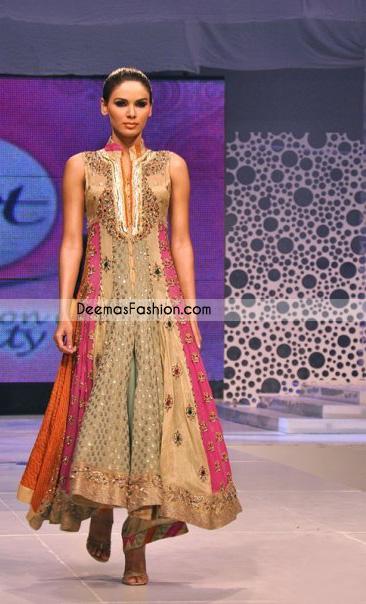 Latest Designer Wear - Multi Anarkali Pishwas