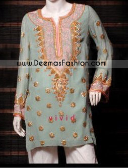 Pakistani Latest Ladies White Embroidered Top
