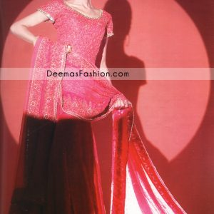 Latest Pakistani Fashion - Deep Pink Bridal Dress