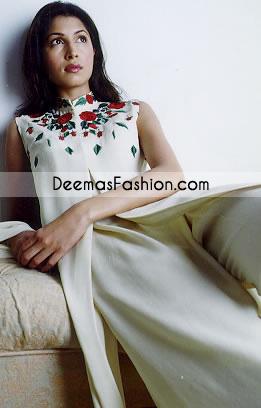 Latest Pakistani Fashion Elegant White Casual Dress