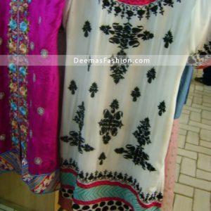 Latest Pakistani Fashion - Elegant White Casual Dress