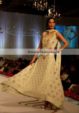 Latest Trendy Clothing Off White Anarkali Pishwas