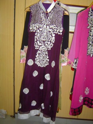 Dark Purple A-line Casual Wear - Pakistani Casual Trend