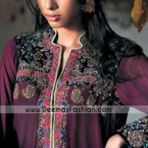 Pakistani Ladies Fashion Clothes – Deep Purple designer kurta Collection