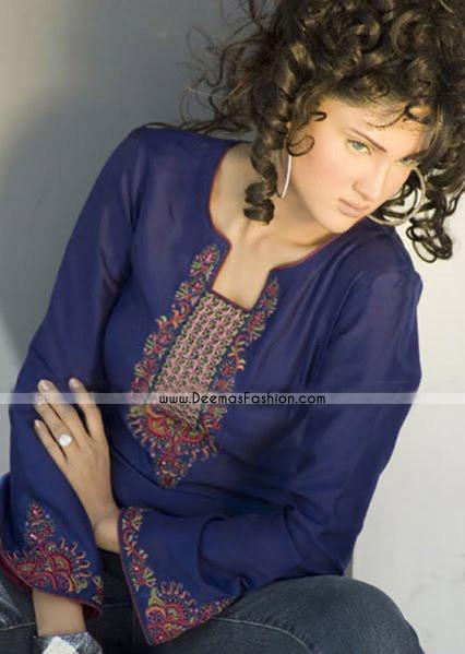 Pakistani Latest Fashion - Blue Kurti Wear