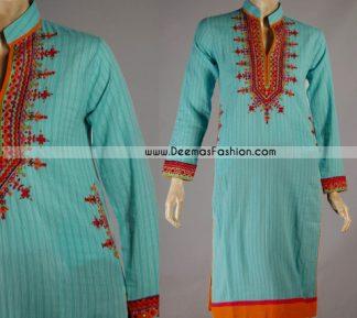 Pakistani Latest Ladies White Embroidered Top