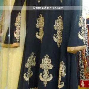 Pakistani Latest Anarkali Fashion Stylish Black Frock