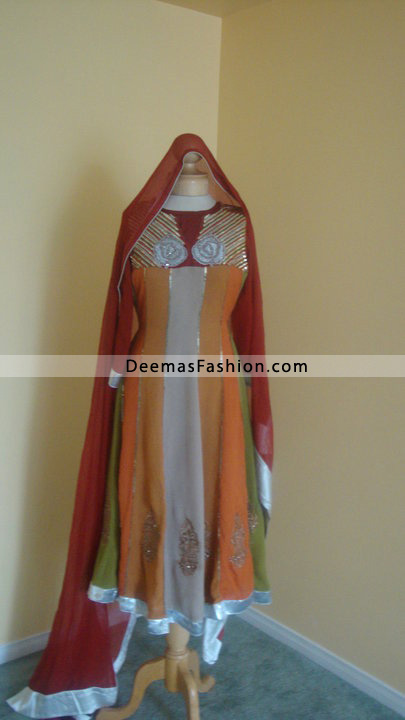 Multicolored Dress Best Pakistani Fashion Clothing