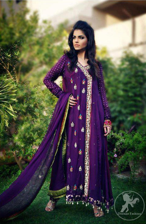 Purple-aline-casual-andrakha-style-dress