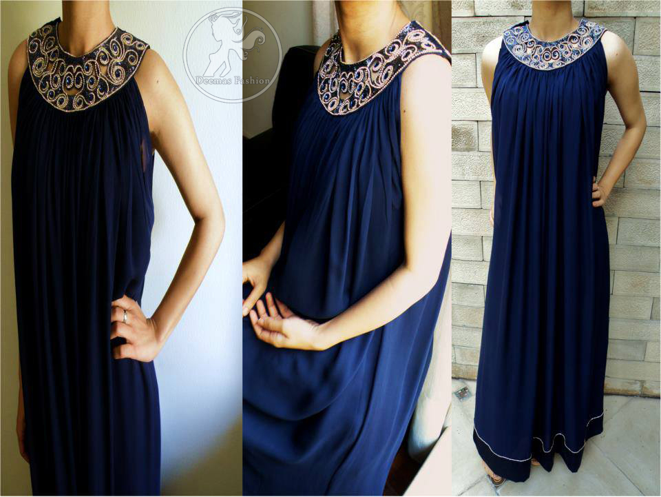 Royal Blue Casual Wear Frock