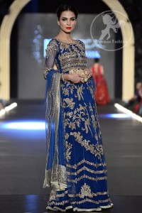 Royal-blue-heavily-embellished-bridal-maxi-with-embroidered-dupatta