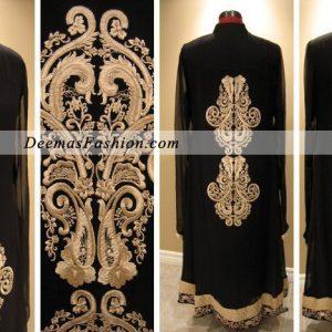 Stylish Black Embroidered Dress