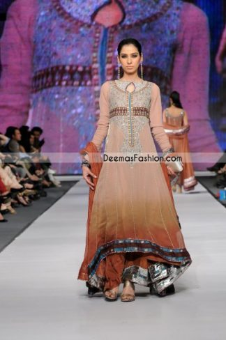 Traditional Dress Pakistani Anarkali Brown Outfit