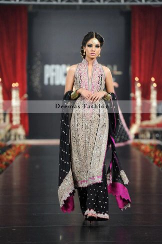 Black Fully Embroidered Pakistani Formal Dress