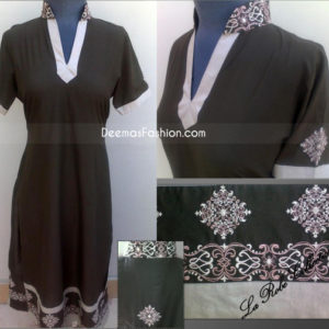 Latest Ladies Fashion Black Grey A-Line Shirt