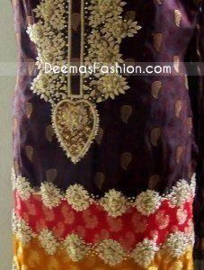 Dark Purple Embroidered Boarder