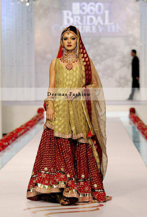Latest bridal dresses in red colour images