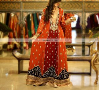 Deep Red Rust Heavy Formal Gown