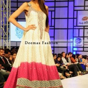 Double Tone Party Wear Frock With Sharara