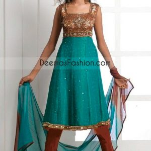 Pure Chiffon A Line Anarkali Frock Churidar Fashion