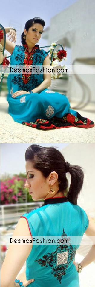 Ferozi Aline Embroidered Casual Wear Dress