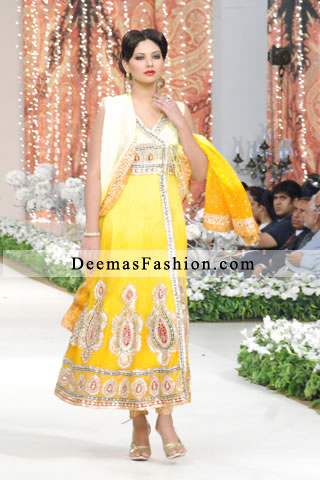Lemon and Bright Yellow Andrakha Style A-Line Dress