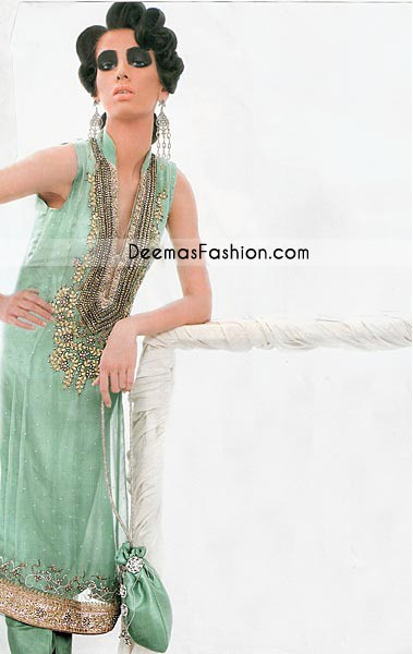 Pakistani Fashion Light Green Shirt & Trouser