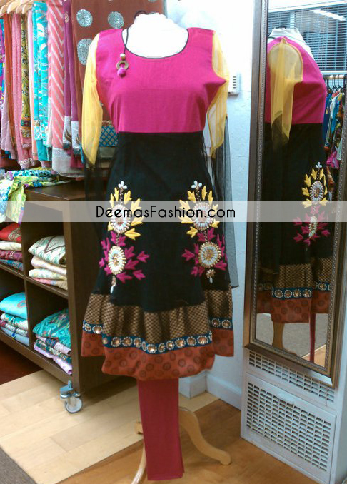Multi Color Anarkali Casual Wear Frock