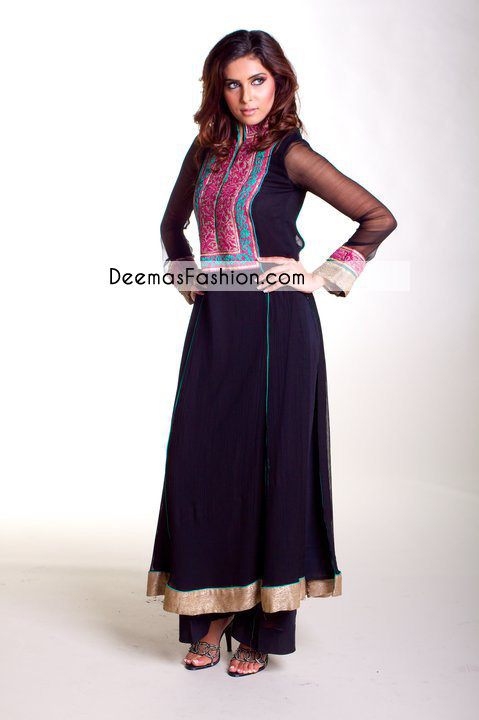 Navy Blue Casual Wear Anarkali Frock