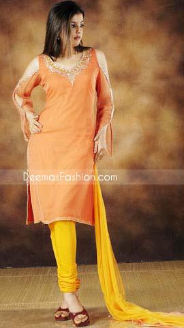 Orange-Yellow Chiffon