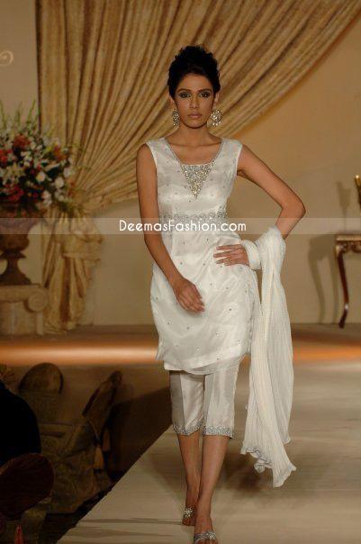 Buy Pakistani Dress White Amp Silver Suit