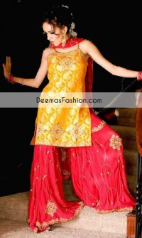 yello-red-bridal-mehndi-wear-gharara1